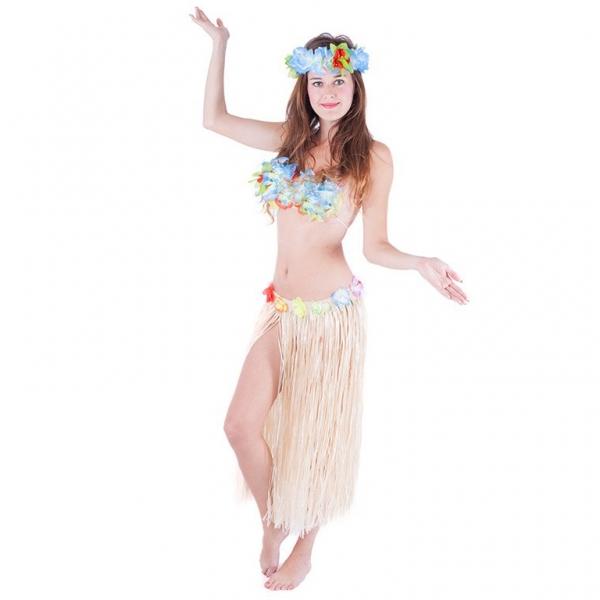 Rappa Sukne Hawaii dospelá 72 cm, prírodné