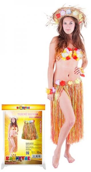 Rappa Sukne Hawaii dospelá 72 cm, farebná