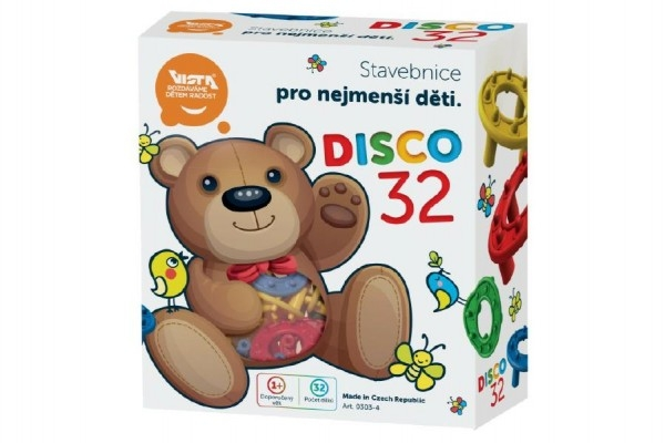 Teddies Stavebnice Disco 32ks plast v krabici