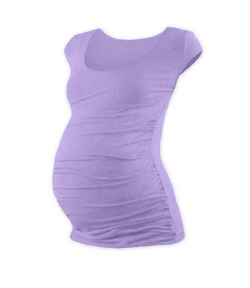 Tehotenské tričko mini rukáv JOHANKA - levanduľa
