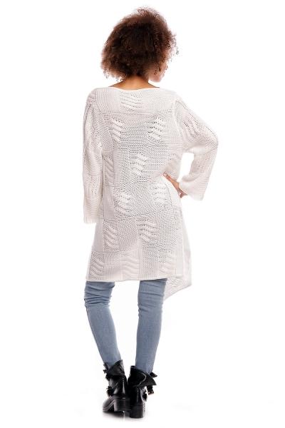 Dlhý sveter HANNE - biely