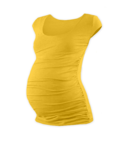 JOŽÁNEK Tehotenské tričko mini rukáv JOHANKA - žltooranžová