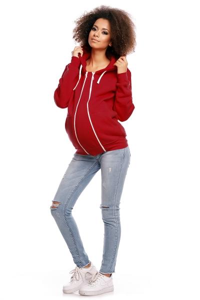 Tehotenská mikina VANDA - červená