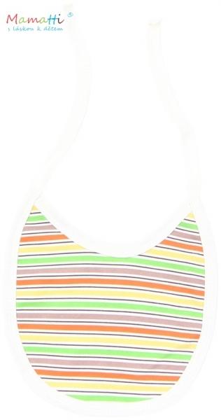Podbradník bavlna Mamatti - CAR - farebné prúžky