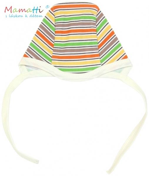 Čiapočka Mamatti - CAR - barevné prúžky
