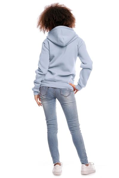 Be MaaMaa Tehotenská mikina VANDA - jeansová