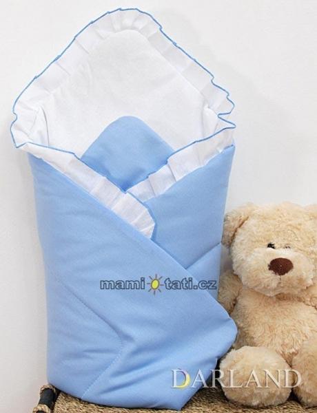 Krásna zavinovačka s volánikom - Medvedík na hojdačke modrý