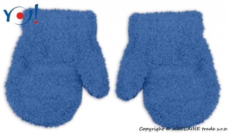 Zimné dojčenske chlapčenské froté rukavičky YO - jeans, 12cm rukavičky