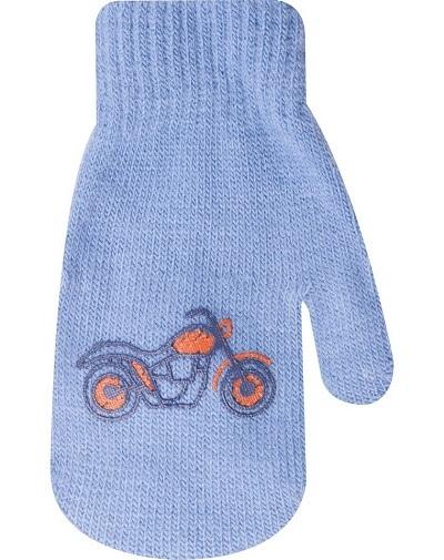YO !  Dojčenské chlapčenské akrylové rukavičky YO - modré-13-14cm rukavičky