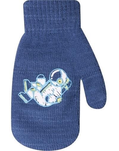 YO !  Dojčenské chlapčenské akrylové rukavičky YO - jeans