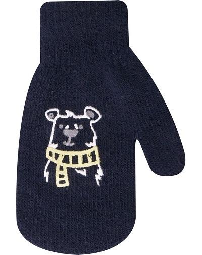 Dojčenské chlapčenské akrylové rukavičky YO - granátové, veľ. 13-14 cm