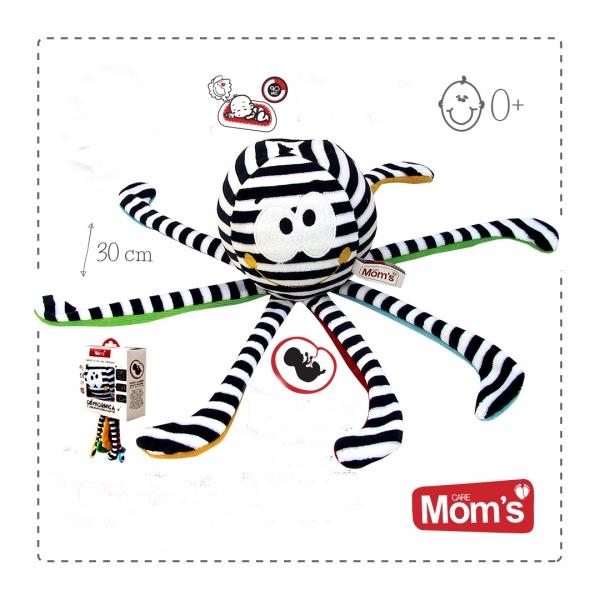 Hencz Toys Edukačná hračka Hencz CHOBOTNIČKA s tlkotom srdca - bielo čierna