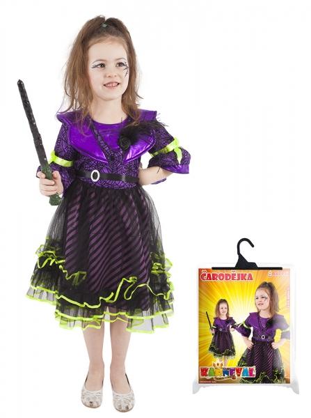 Rappa Karnevalový kostým čarodejnice / halloween fialová vel. M