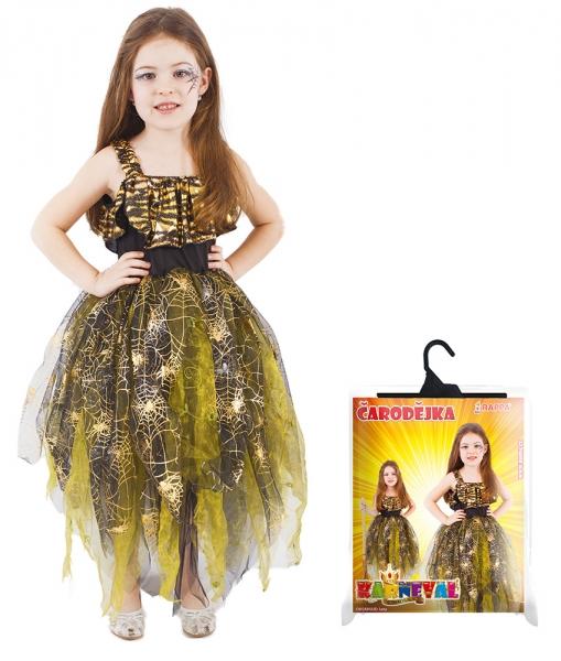Rappa Karnevalový kostým čarodejnice / halloween zlatá vel. M