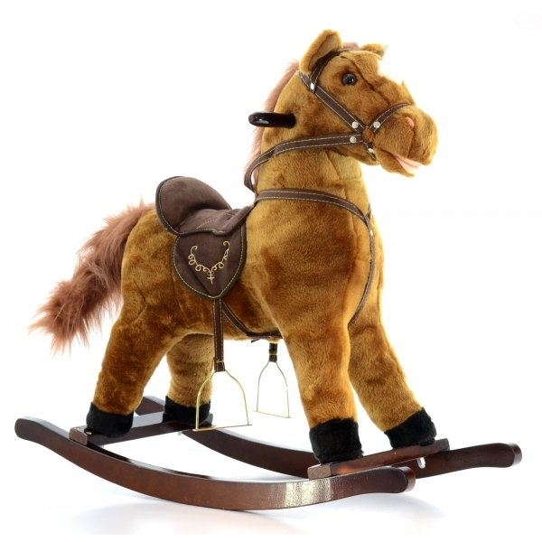 Hojdací koník - hnedý