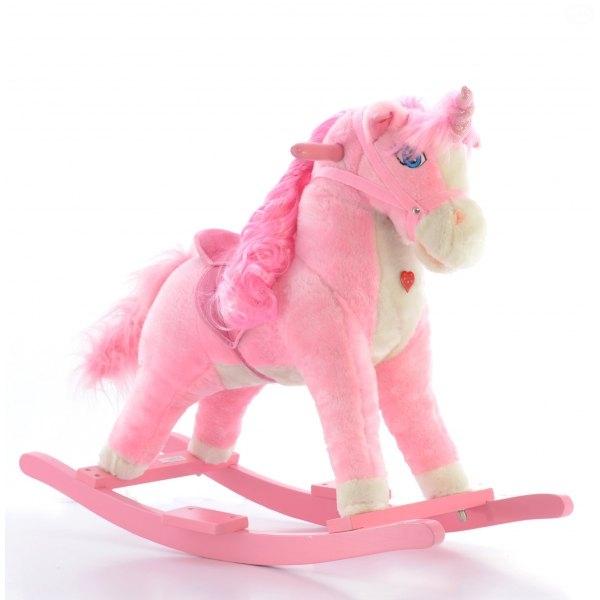Hojdací koník Jednorožec - ružový