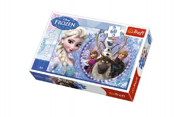 Teddies Puzzle Ľadové kráľovstvo / Frozen 33x22cm 60 dielikov v krabici