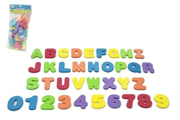 Teddies Penová písmená a číslice do vane 36ks v sáčku