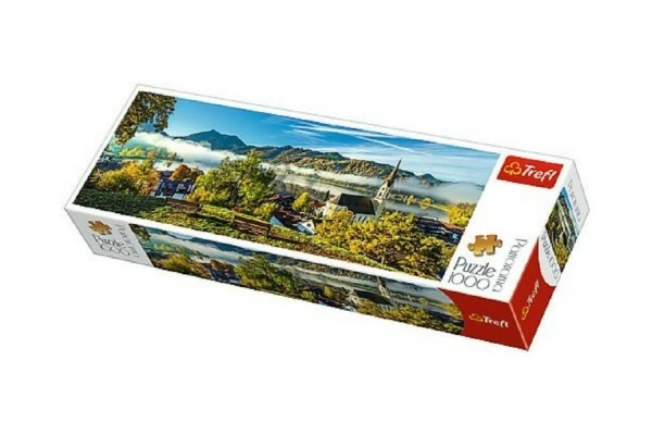 Teddies Puzzle jazero Schliersee panoramic 1000 dielikov 97x34cm v krabici 40x13x7cm