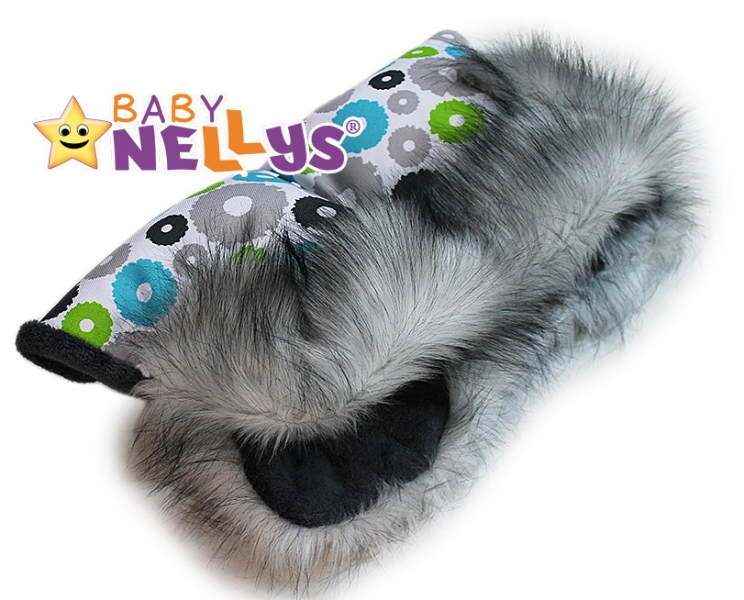 Rukávnik ku kočíku s kožušinou Baby Nellys ® flees LUX