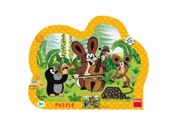 Teddies Puzzle doskové Krtko muzikant kontúra 35x28cm 25 dielikov