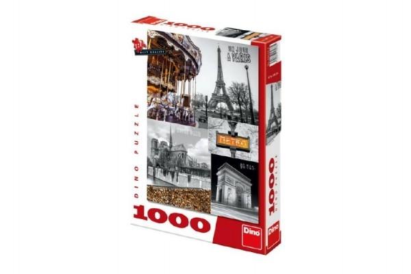 Puzzle Paríž - koláž 1000 dielikov 47x66cm v krabici 27x37x5cm
