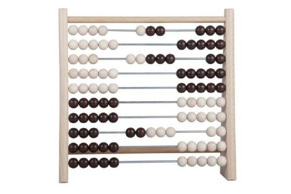 Teddies Počítadlo 100 guľôčok drevo / kov 24x23cm v sáčku