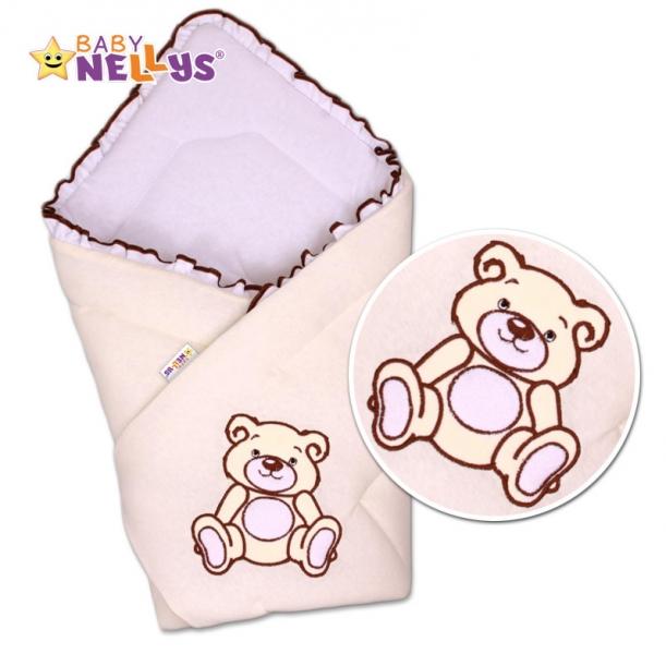 Zavinovačka Baby Nellys - Medvídek Teddy- jersey - smotanová