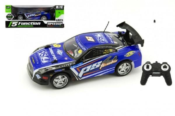 Auto RC 25cm plast zrýchľujúce 1:18 na batérie 27MHz v krabici