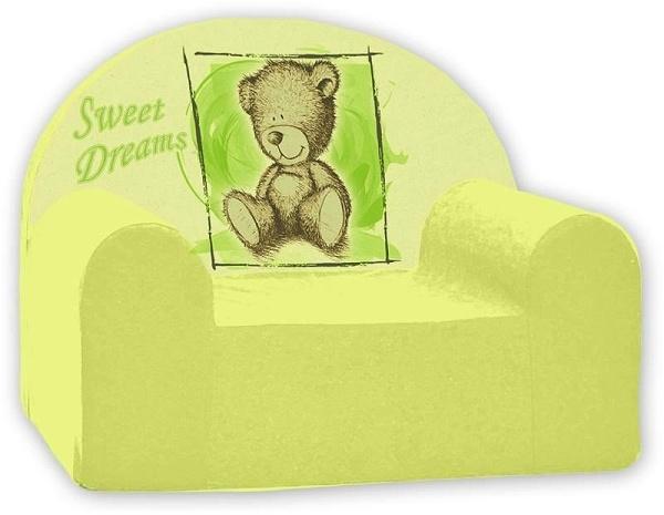 Dětské křesílko/pohovečka Nellys ® - Sweet Dreams by Teddy - zelené
