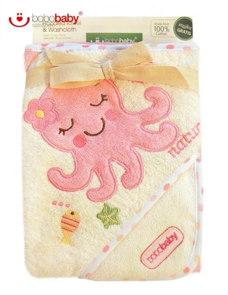 BOBO BABY Detská osuška s žinkou BOBOBABY ECO - Chobotnička