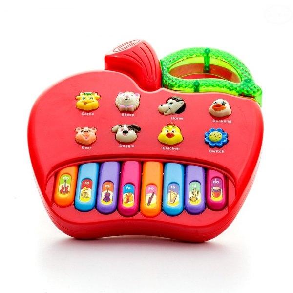 Euro Baby Edukačná hračka hrajúci jablko - červené