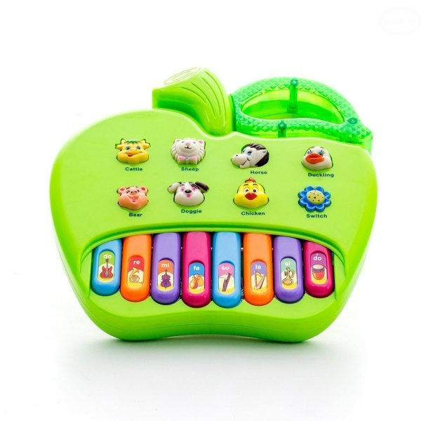 Euro Baby Edukačná hračka hrajúci jablko - zelené