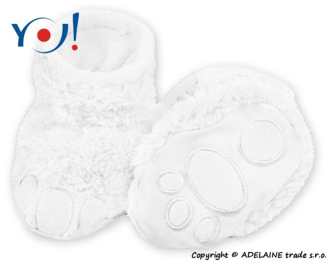 Topánočky / ponožtičky YO! MACKO - biele-56 (1-2m)