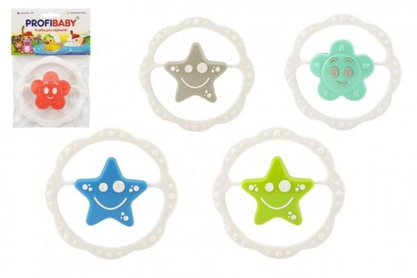 Teddies Chrastítko hvězda plast 13cm asst 4 barvy v sáčku