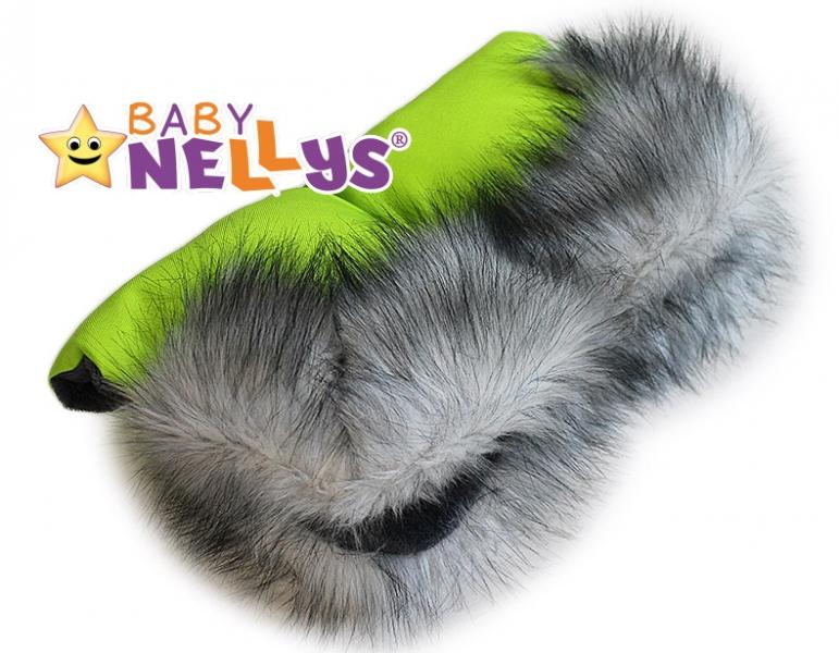 Rukávnik ku kočíka s kožušinou Baby Nellys ® flees LUX