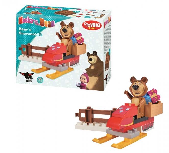 Stavebnice Play BIG Bloxx Máša a medveď Míša sa skútrom