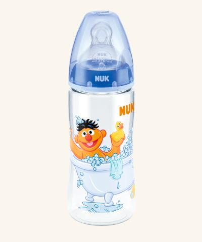 Fľaštička NUK 300ml + cumlík - Sesam street