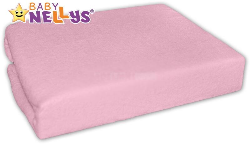 Baby Nellys Jersey plachta ružové 90x90
