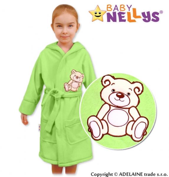 Baby Nellys Detský župan - Medvedík Teddy - zelený