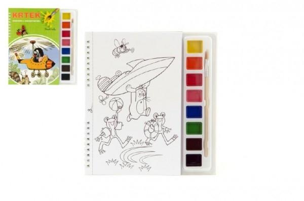 Teddies Maľovanky Krtko s vodovými farbami a štetcom