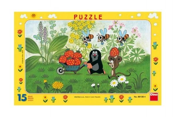 Teddies Puzzle doskové Krtko na výlete 29,5x19cm 15 dielikov