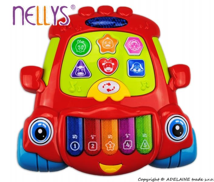 Euro Baby Edukačná hrajúci hračka Autíčko - červené