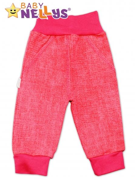 Bavlnené nohavice Baby Nellys ® - jeans - ružové, veľ. 56