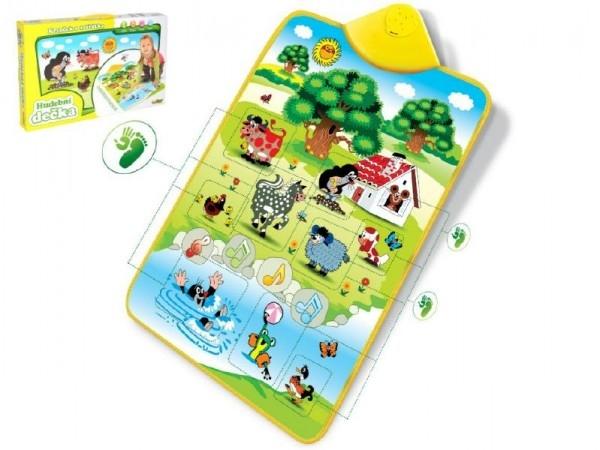Teddies Elektronická hracia podložka Krtko a zvieratká 42x61cm v krabici