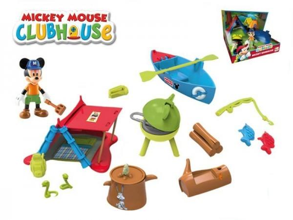 Mickey Mouse Clubhouse sada na piknik plast s kĺbovou figúrkou 8cm a doplnky v krabici