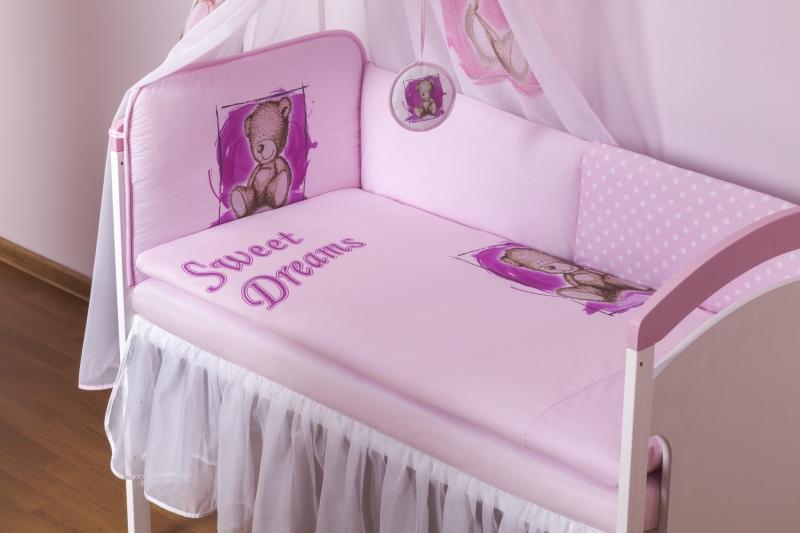 BABY NELLYS Šifónový volánik Sweet Dreams by Teddy- biely