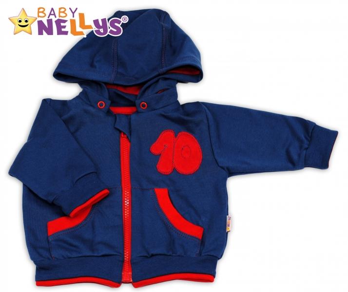 Mikinka s odpopinacou kapucňou Baby Nellys® - modrá/červená