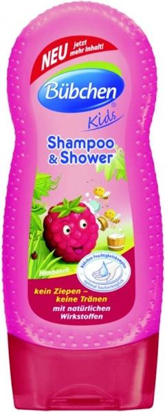 Bübchen detský šampón a sprchový gél Malina - 230ml