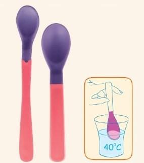 Plastové lyžičky Canpol Babies THERMO - 2 ks